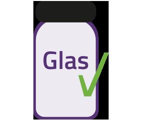Alegna Produkte sind in umweltfreundlichen Glasbehältern verpackt